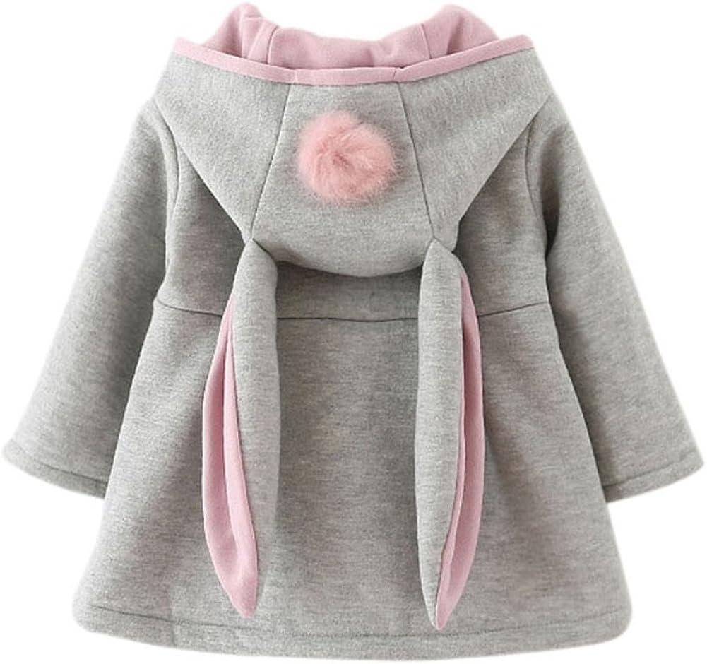 BOBORA Toddler Super popular specialty store Girl Lovely Ear Winter Baby Bombing new work Hoodie Down Warm Coat