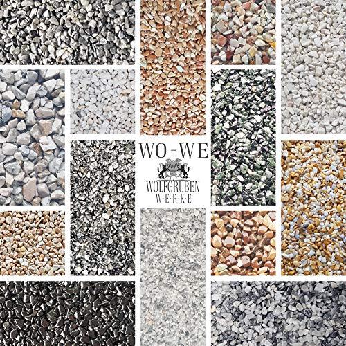 25Kg Steinteppich Set Marmorkies Bodenbeschichtung Bianco Carrara Weiß 1-4mm - 2qm