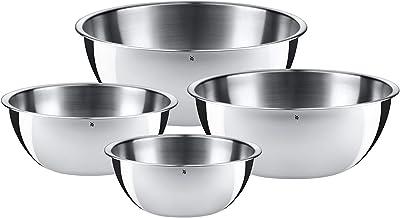 WMF Gourmet Schüsselset 4-teilig, Schüsseln für die Küche, Cromargan Edelstahl poliert, 0,75l - 2,75l, Multifunktional als Rührschüssel, Salatschüssel, Servierschüssel, stapelbar