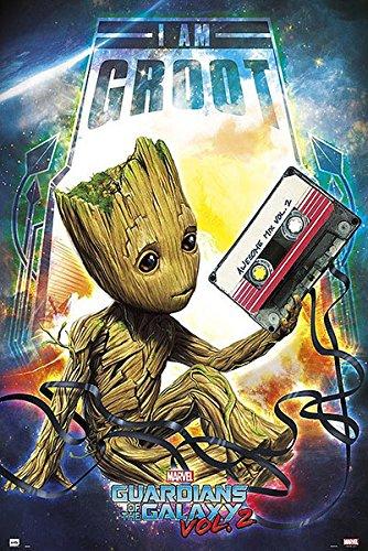 Póster Guardianes de la Galaxia 2. I am Groot