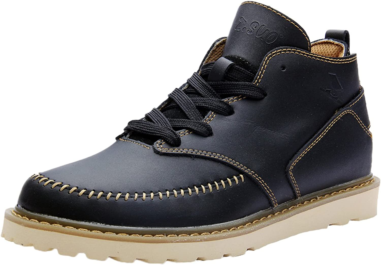 Insun Men's Genuine Leather Boot shoes