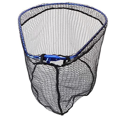 Demeras - Malla de pesca telescópica de acero inoxidable plegable para pesca...