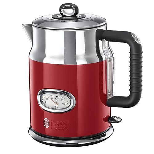 Russell Hobbs 21670-70 Bouilloire filtre Retro Rouge 1,7 L 2400 W