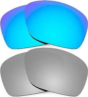 Combo de 2 pares de lentes polarizados, de reemplazo, para Oakley Plaintiff Squared K004