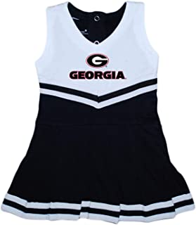 University of Georgia UGA Bulldogs Baby and Toddler Cheerleader Bodysuit Dress