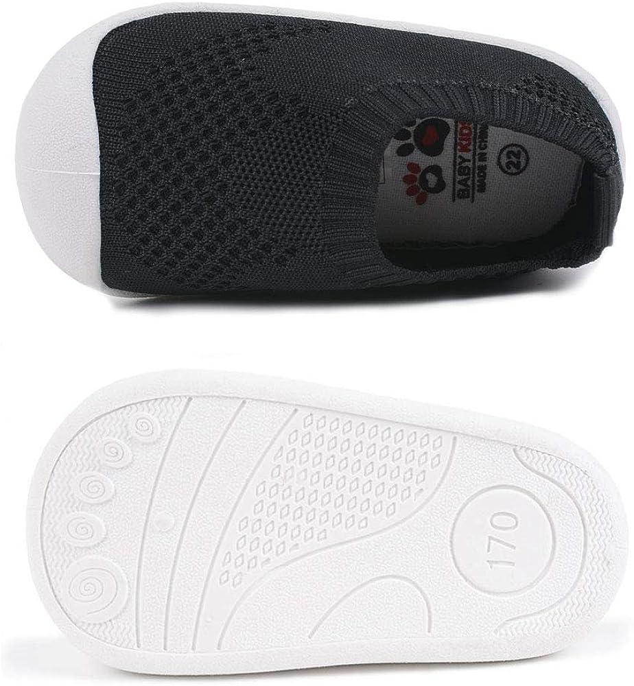 Mitudidi B/éb/é Chaussures Premier Pas pour Filles Gar/çons de 1-4 Ans Antid/érapant Style Sport Enfants D/écontract/é L/ég/ér Respirant Chaussures