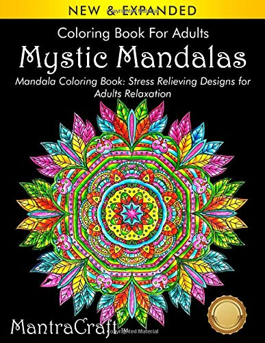 Coloring Book For Adults: Mystic Mandalas: Mandala Coloring Book: Stress Relieving Designs for Adults Relaxation