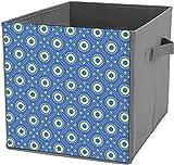 Caja de almacenamiento de ropa | Cubo de almacenamiento cuadrado plegable, organizador duradero cesta, círculos