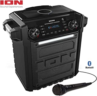 Ion Audio Pathfinder Charger, Bluetooth Portable Speaker with Wireless Qi Charging– (Renewed)