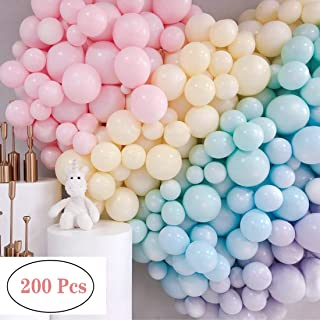 5 Inch Mini Pastel Latex Balloons 200pcs Macaron Candy Colored Latex Party Balloons for Wedding Graduation Engagement Birthday Baby Shower Christmas Festival Picnic or Any Friends & Family Party Decor