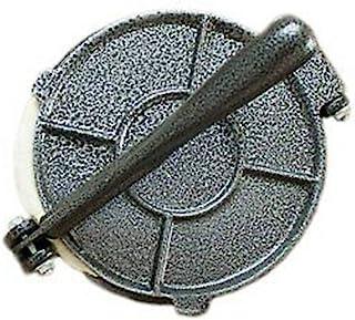 سبيكة ألومنيوم تورتيلا بريس مقبض قابل للطي أداة طحين الخبز الذرة أدوات الفطائر DIY اكسسوارات المطبخ (رمادي، 20.32 سم)