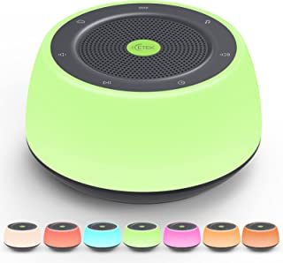 White Noise Machine with Night Light, ICETEK Portable Sound Machine for Baby Adults Kid, 16 Soothing Sounds for Baby, Whit...