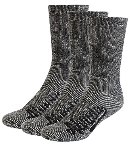 Alvada 80% Merino Wool Hiking Socks Thermal Warm Crew Winter Sock for Men Women 3 Pairs ML