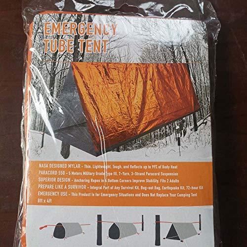 Sac de Couchage d'urgence Sac de Survie Bivy Kit de Couverture de Sauvetage Sac réutilisable Sac de Sauvetage pour Camping Randonnée(Orange)