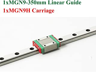 MR9 MGN9 9mm Mini Linear Guide 350mm With MGN9H Linear Block Carriage CNC X Y Z Axis Kossel