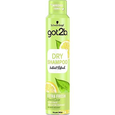 Schwarzkopf Got2B Fresh It Up Shampoo Secco Extra Fresh, Freschezza Istantanea, Fragranza Agrumata, senza Residui - 200 ml