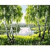 Pintura de bricolaje por números para adultos niños pintura al óleo pintada a mano paisaje pintura decoración del hogar regalo personalizado A6 30x40cm