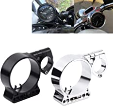 Speedometer Relocation Bracket, CNC Aluminium Side Mount Gauge & Meter Repacking Holder for For Harley Sportster XL883 X1200(Black)