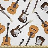 ABAKUHAUS Gitarre Stoff als Meterware, Realistische