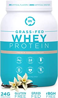 Grass Fed Whey Protein Vanilla 2lb - 100% Pure and Natural - 2 lb/26 Servings - 24g Protein - Cold Processed Undenatured - Non-GMO - rBGH-Free - High Quality from Happy Healthy Cows USA