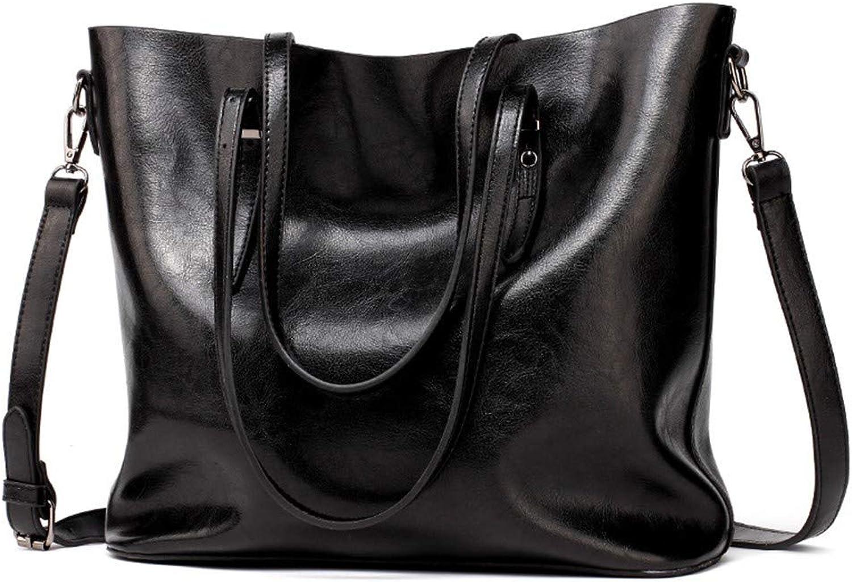 Handtasche Eimer Tasche Schulter geschlungen geschlungen geschlungen einfache große Tasche weibliche Tasche koreanische Freizeit große Kapazität, schwarz B07MQ4SH3Q  Louis, ausführlich 8000b0