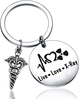 FUTOP X-ray Tech Gift Live Love X-Ray Keychain Radiology Tech Graduation Gift Radiologic Technologist Gift