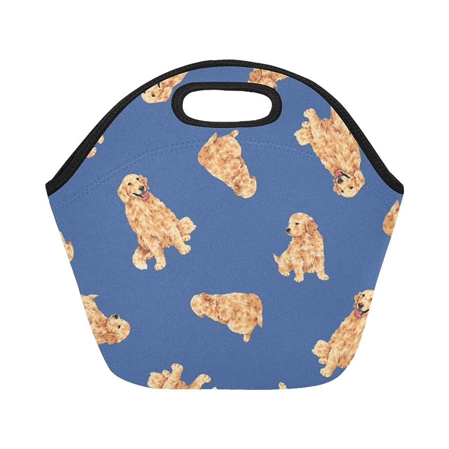 備品近所の一口XHQZJ ランチバッグ すばやい ゴールデンレトリーバー 弁当袋 お弁当入れ 保温保冷 トート 弁当バッグ 大容量 トートバッグ