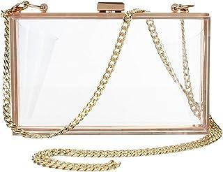 a7e7ede9a00 Onorner Acrylic Evening Handbag Designer Cross-Body Purse Bag Women Cute  Transparent Clear See Through