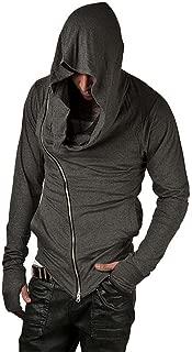 Men's Cool Side Zipper Assassin's Robe Hoodies Cosplay Hooded Sweatshirts