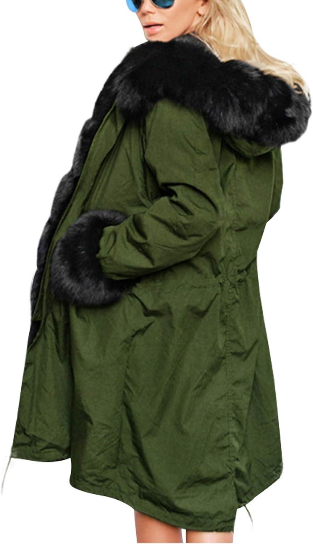 Letuwj Women's Winter Hooded Faux Fur Lined Parka Jacket