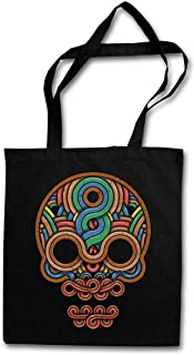 "INCA SKULL ""J"" HIPSTER BAG – cráneo Inka Mayans Maya Aztecs Azteken American Indians Sugar Candy Skull Mexican Tattoo Flash Psychobilly Latino"