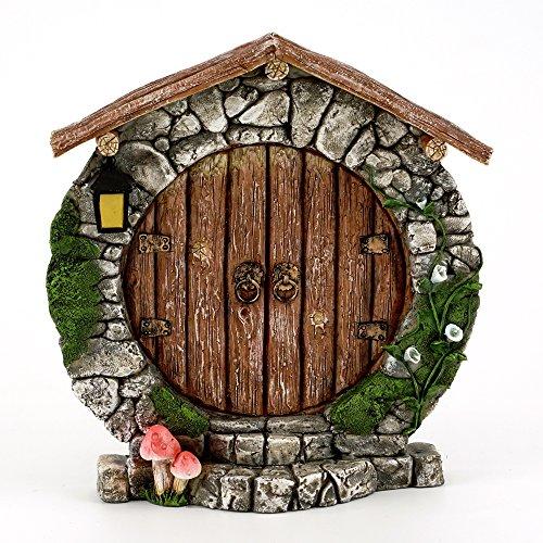 Top Collection 5.25 Miniature Fairy Garden & Terrarium Charming Round Door Decor, Small