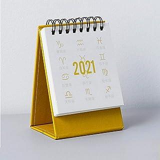 2020-2021卓上カレンダー 折りたたみ式三角デスクノートブックカレンダー 卓上自立型カレンダー 2020年1月から2021年12月まで 通年のカレンダー スタディプランナー カウントダウンカレンダー ホームオフィスス用
