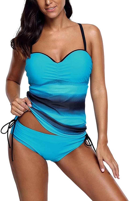 Large Size Swimsuit Suit Tankini, Conservative Swimsuit Low Waist Split Swimwear Swimsuits for Women Tankini Set