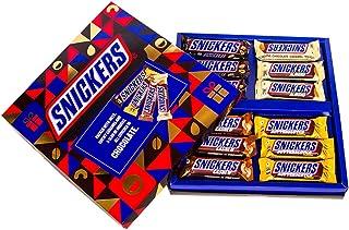 Snickers Chocolates Bar Diwali Gift Box - Peanut (45g), Cashew (45g), Almond (45g) & Butterscotch (40g) [Pack of 12]