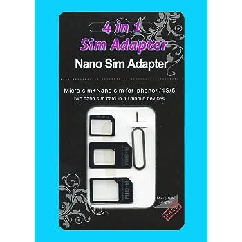 3 in 1 Nano Sim + Micro SIM Adapter SIM Kartenadapter NanoSim MicroSim neu