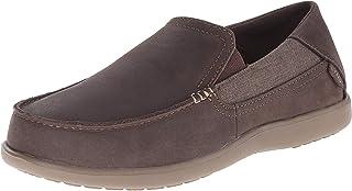crocs Men's Santa Cruz 2 Luxe Leather M Slip-On Loafer, Espresso/Walnut, 11 M US