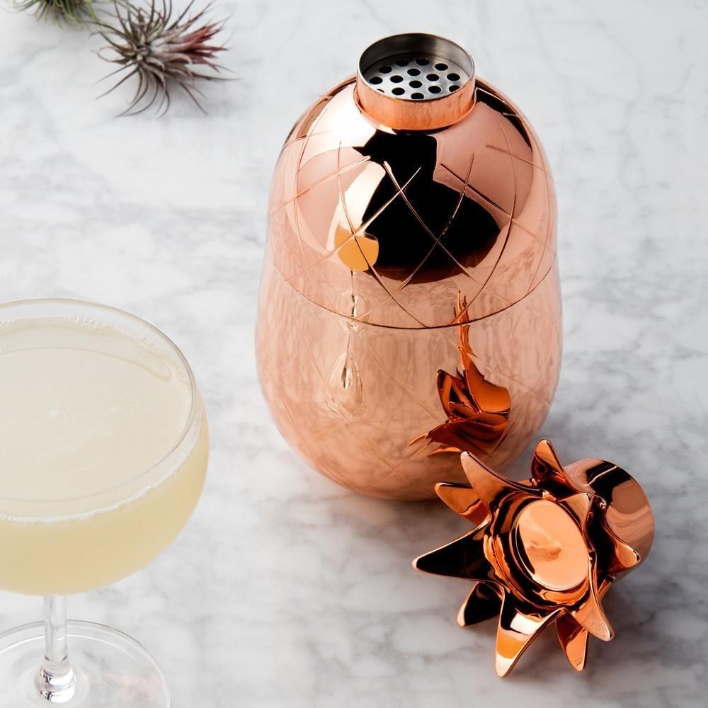Coner Pineapple Bar cuill/ère Cuill/ère de m/élange en Acier Inoxydable Spiral Pattern Bar Cocktail Shaker Spoon 33cm Copper Plated