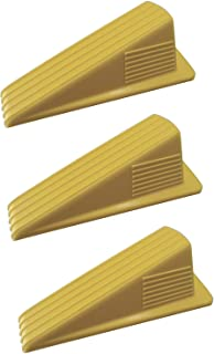 Shepherd Hardware 3763 Heavy Duty Jumbo Rubber Door Wedge, Yellow, 3 Pack