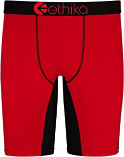 Silky Boxer Shorts with Fly Front S to 4XL Flo Orange
