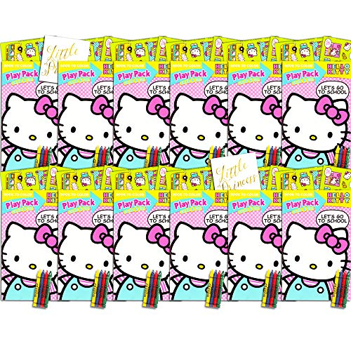 Hello Kitty Ultimate Party Favors Packs -- Bundle Includes 12 Sets with Stickers, Coloring Books and Crayons (Party Supplies)