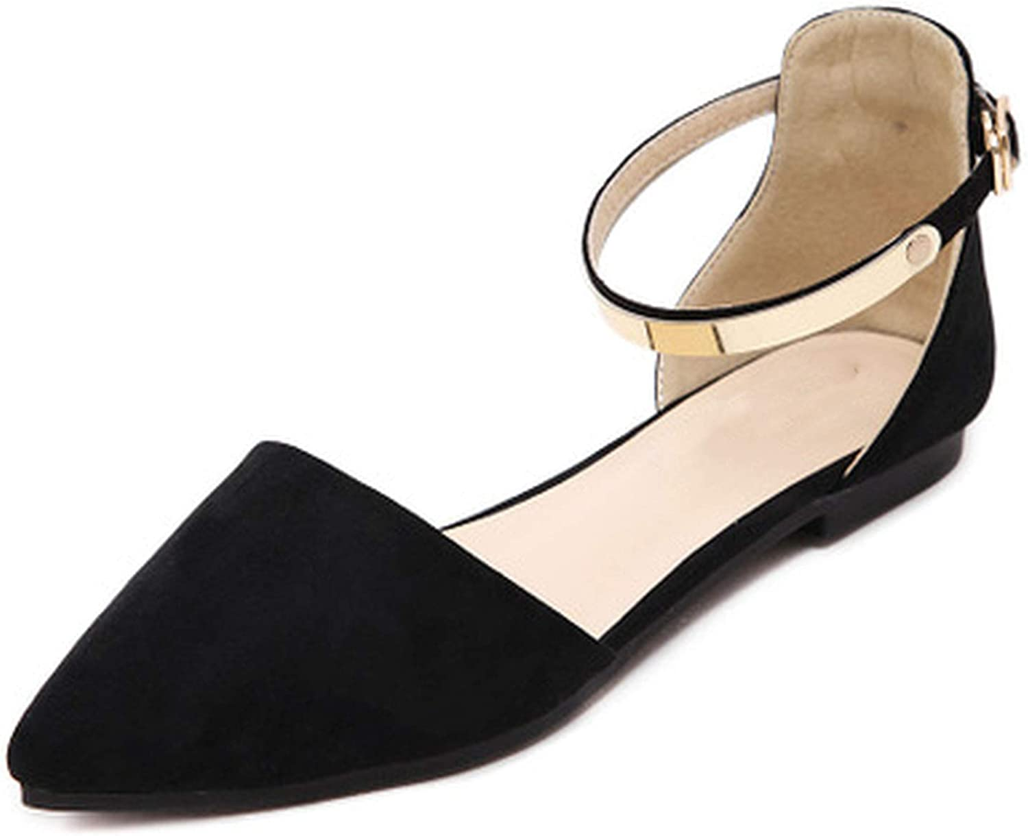 HANBINGPO Simple Elegant High Heels Thick with Single shoes Wild Small Fresh Leather shoes Professional