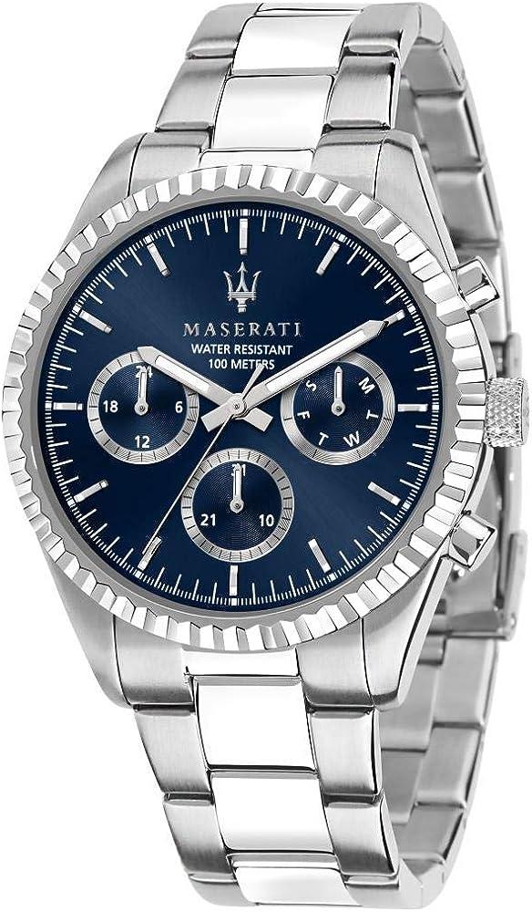 maserati orologio da uomo collezione competizione in acciaio 8033288892298