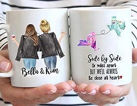 Personalized BFF Mug Gift for Sister Custom Message Mug Long Distance Friendship Mug Mickey Castle Disney Custom Best Friend Gift Mug Best Friend Forever
