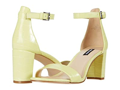 Nine West Pruce Block Heeled Sandal (Citron) Women
