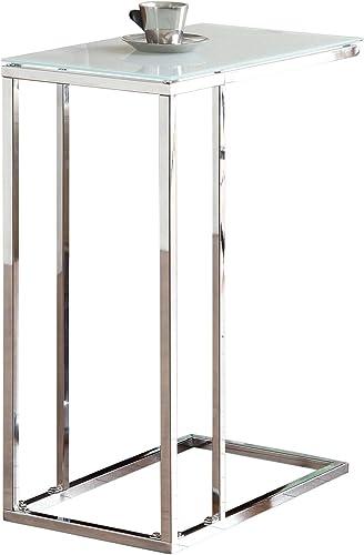 Coaster Fine Furniture Mesa Lateral Moderna Cromada con Superficie de Vidrio/Espejo