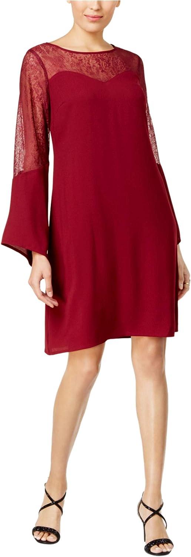 Thalia Sodi Womens Lace Insert ALine Shift Dress