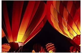 GREATBIGCANVAS Poster Print Hot-air Balloons at Night, Albuquerque Balloon Fiesta by 18