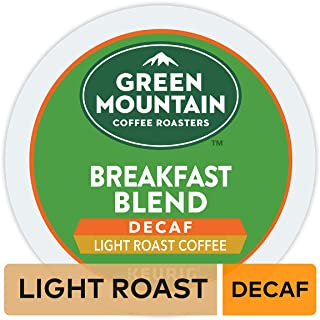 Green Mountain Coffee Roasters Breakfast Blend Decaf, Single-Serve Keurig K-Cup Pods,..
