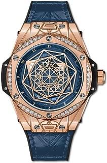 Limited Edition Sang Bleu One Click Gold Blue Diamonds Watch 465.OS.7189.VR.1204.MXM19